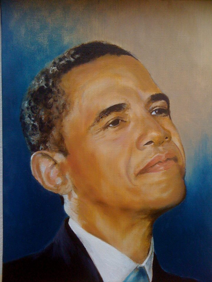 President Obama Oil Painting from Black Art in America
