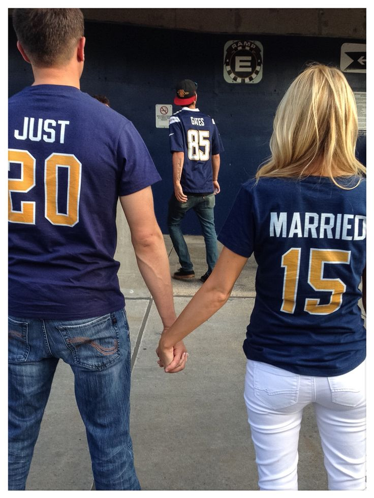 Just married game shirts
