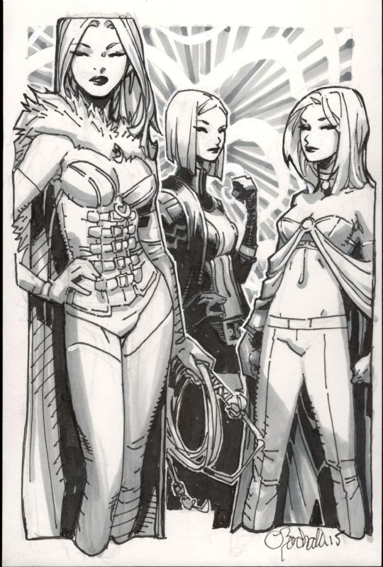 Chris Bachalo - Emma Frost White Queen Comic Art