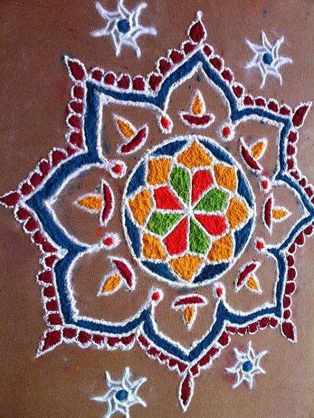 Diwali Kolam with Dots