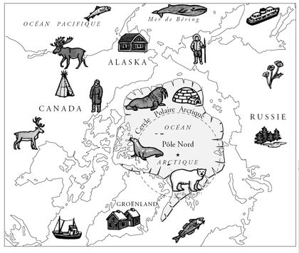 Carte de la région du pôle Nord - illustration 1