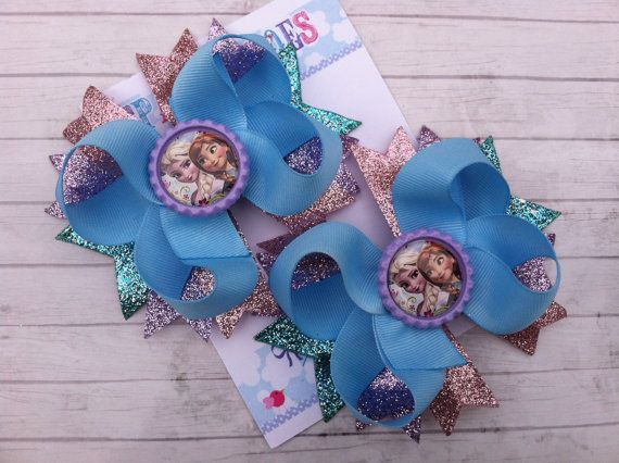FROZEN BOW - Frozen Birthday - Elsa Bow - Ana Bow - Frozen Party - Over the Top Bow - Girls Hair Bows - Toddler, Infant, Big girls