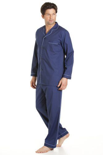 Haigman Mens Nightwear Long Sleeve Pyjama Suit With Trousers, Navy XXXL Fibre Content: 65% Polyester & 35% CottonTop Chest PocketElasticated WaistSoft & ComfortableMachine Washable  Blouses, coats, hoodies, nightwear, Shirts, t-shirts for womens, Tops, vest top womens