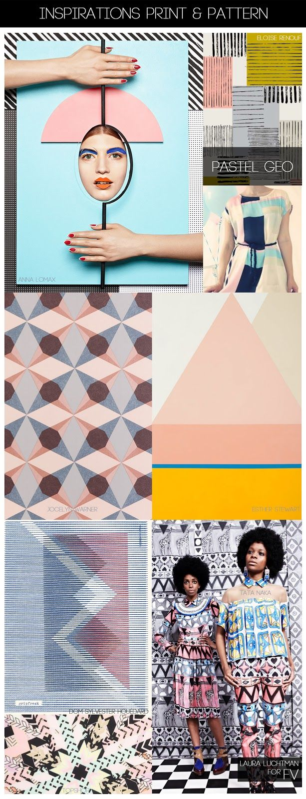 FASHION VIGNETTE: [ INSPIRATIONS PRINT + PATTERN ] KUKKA by Laura Luchtman | SS14 Pastel Geo