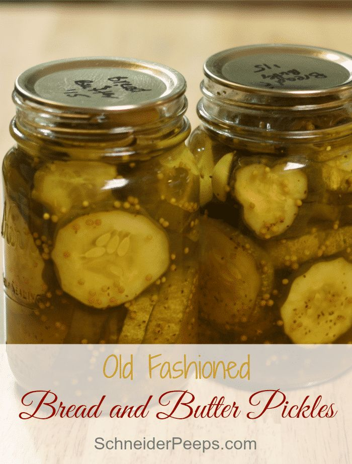 SchneiderPeeps - Bread and Butter Pickles have the perfect balance between sweet and tangy. My grandma's recipe will bring back memories of days gone by.