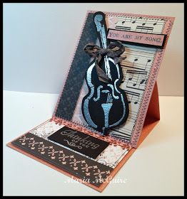 StencilGirl Products- easel card tutorial by Maria: