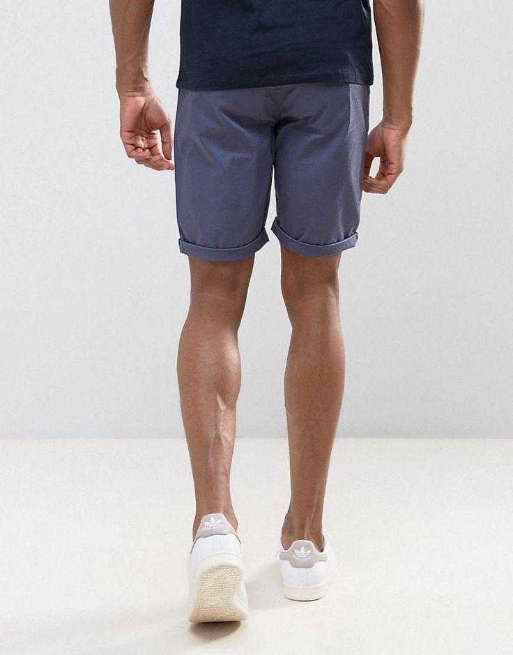 ASOS TALL Slim Chino Shorts In Vindigo - Blue