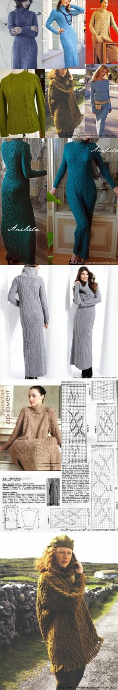 Knitting - abito, tunica e cardigan aghi Aran - motivo celtico & quot…
