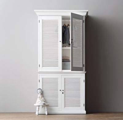 Shutter Single Armoire From Restoration Hardware Ma
