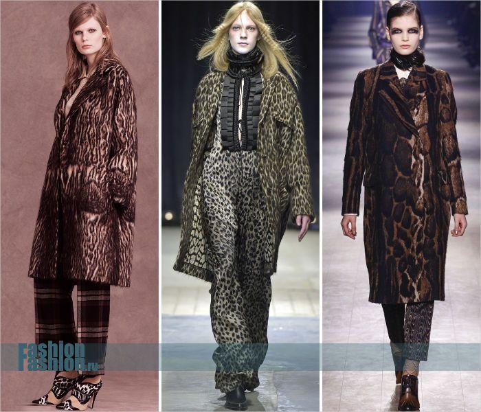 «Леопардовое» пальто из шерсти