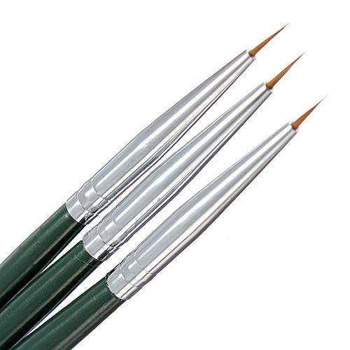 3Pcs Painting Drawing Dotting DIY Brush Acrylic Tips Liner Nail Art Pens Set 5IDY