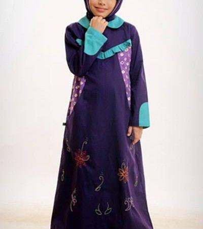 Baju Muslim Azka Gamis Anak Let's Play 2 GASK 16 – Ungu Petunia [M]
