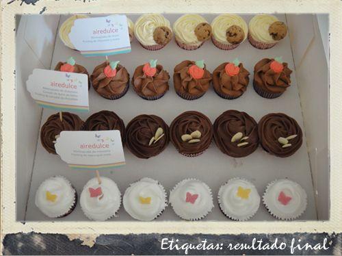 Diseño de etiquetas para cupcakes