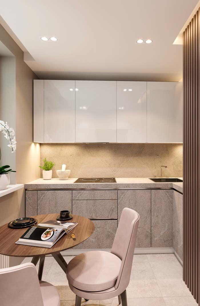 Cozinha Planejada Pequena Cheia De Requinte Mesa Para Cozinha