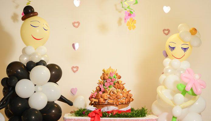 Bröllops artiklar till de lägsta priserna, dekorationer till bordet och bilen