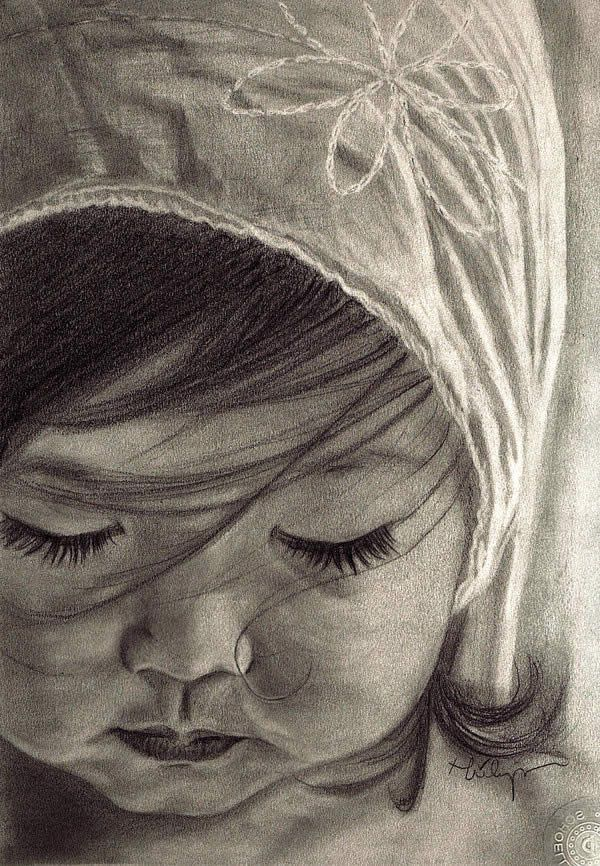 50 Ultra Realistic Children Portrait Drawings