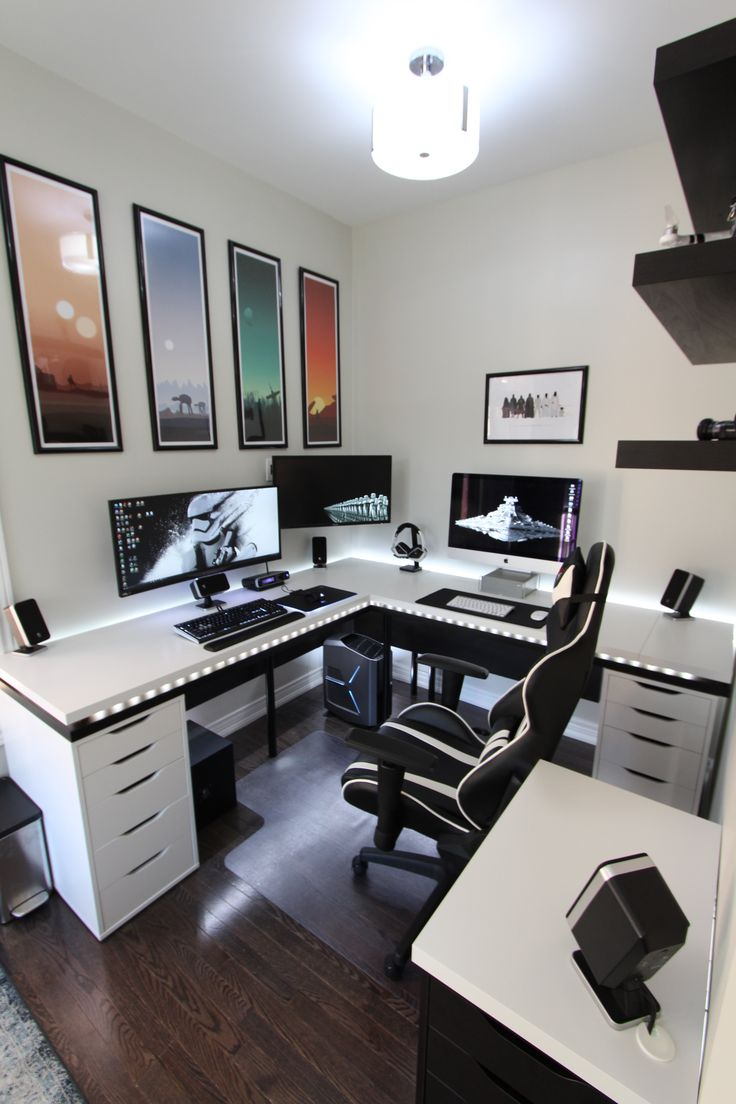 home office setup ideas. battle station gaming office home setup ideas f