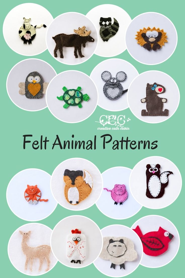 Felt Animal Patterns | Creative Cain Cabin