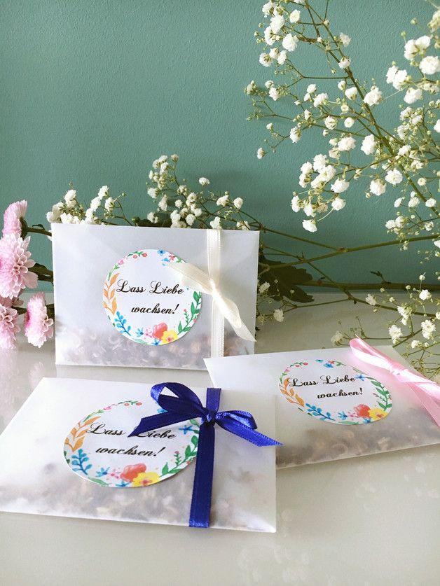 10x bloemenzaad feest gunst – ideaal voor bruiloft, verjaardag, doop, bevestiging o …  – Taufe