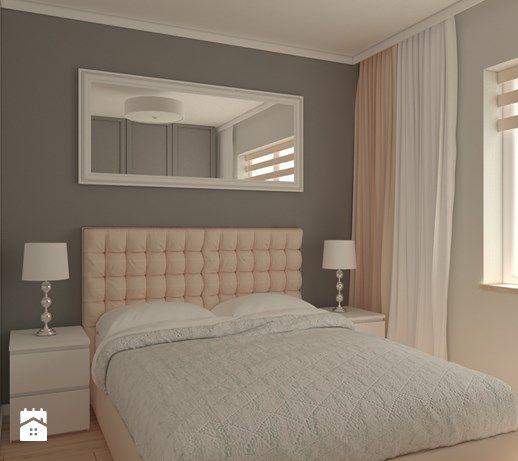 Sypialnia mieszkanie prywatne Wrocław - Średnia sypialnia małżeńska, styl nowoczesny - zdjęcie od Carolineart