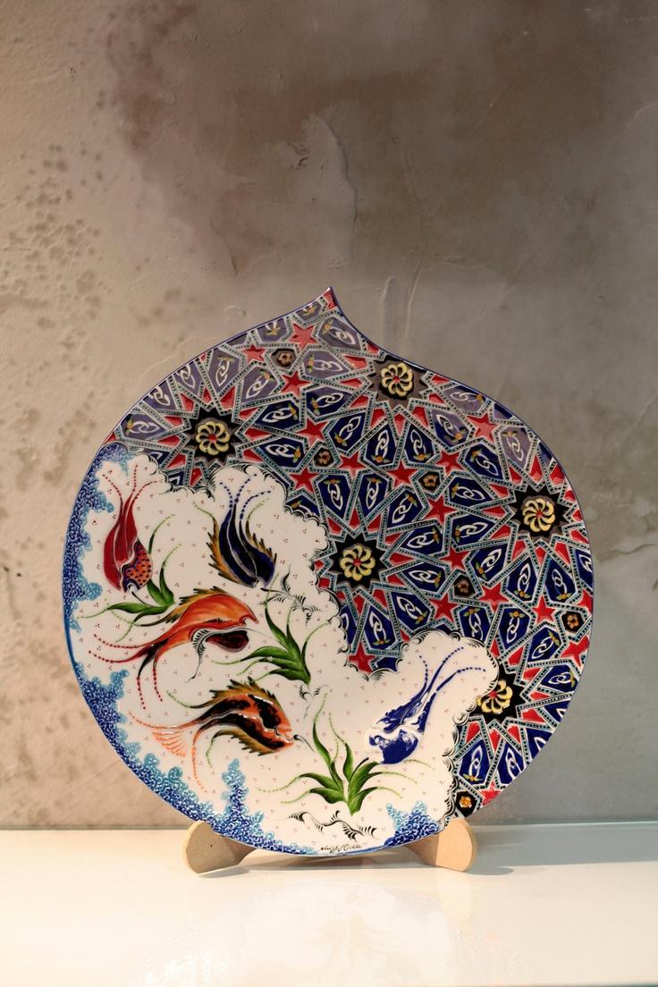 40cm Handmade traditional Anatolian ceramic decorative plate. $200.00, via Etsy.