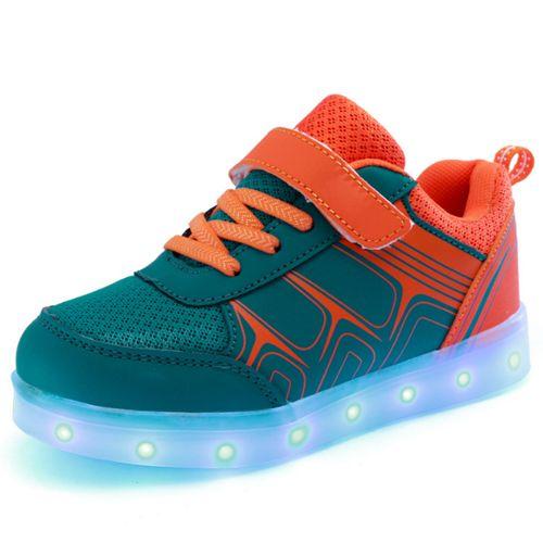 Orange Kids Colorful Luminous Shoes