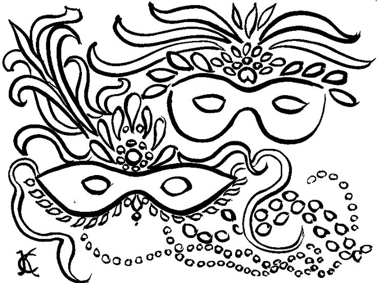 maschere coloring pages to printmardi gras maskscarnival