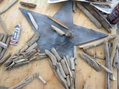 Driftwood star.  For those of you that have a beach house this project is a must for you.