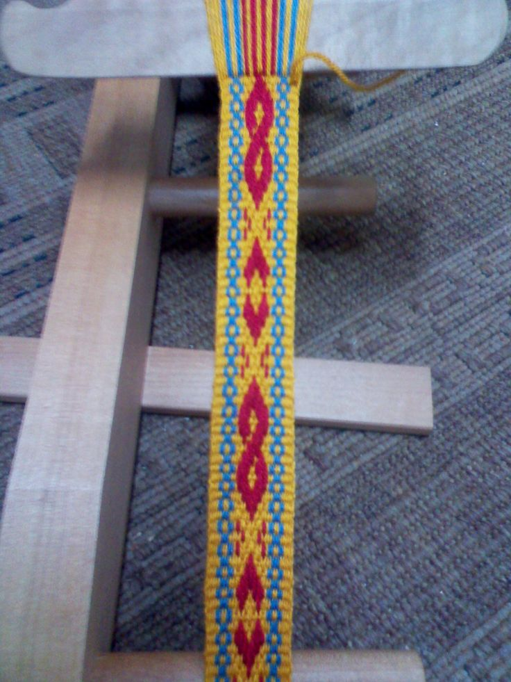 "Thought I'd share my second attempt at Inkle ""Pick-up"" weaving. -Joseph D. Stirling"