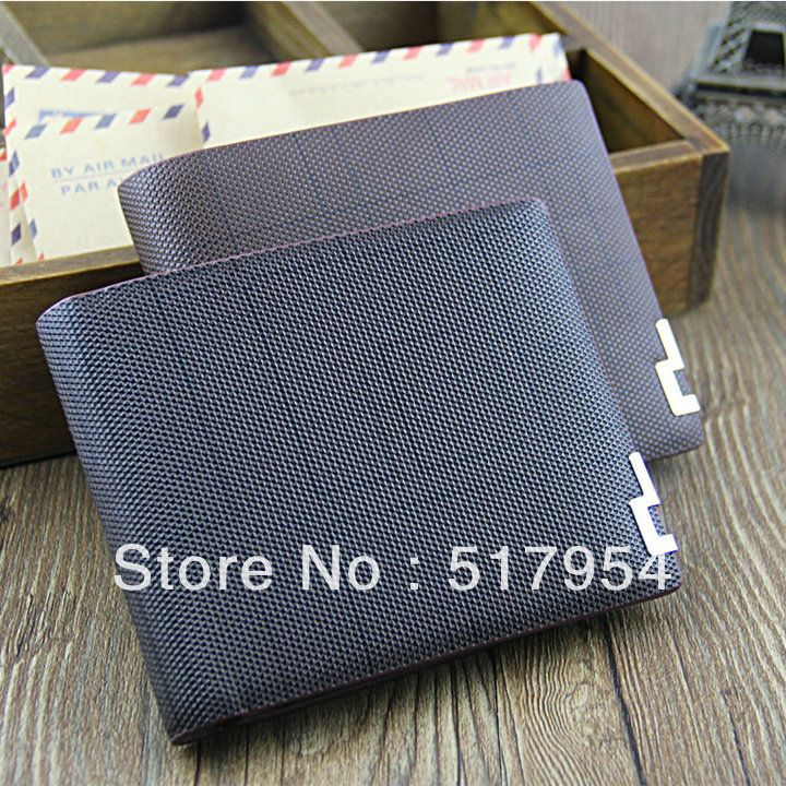 Price cuts, men's leather wallet, fashion wallet short, two colors for your choice ST80802-in Wallets from Luggage & Bags on Aliexpress.com