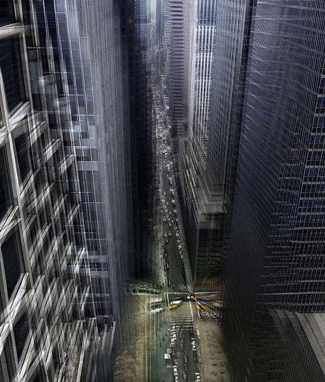 Vertigo Effect Photos of New York City by Alfonso Zubiaga