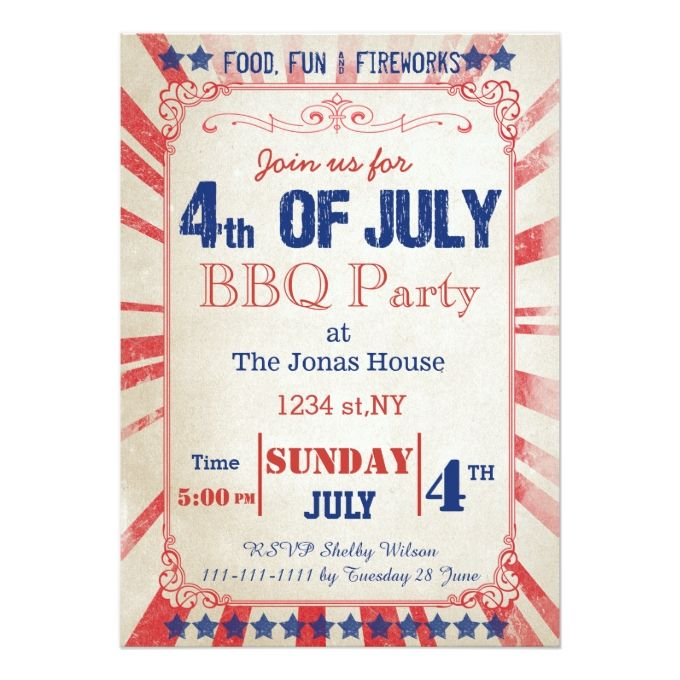 810 best Patriotic Invitations images on Pinterest Invitation - invitation card event