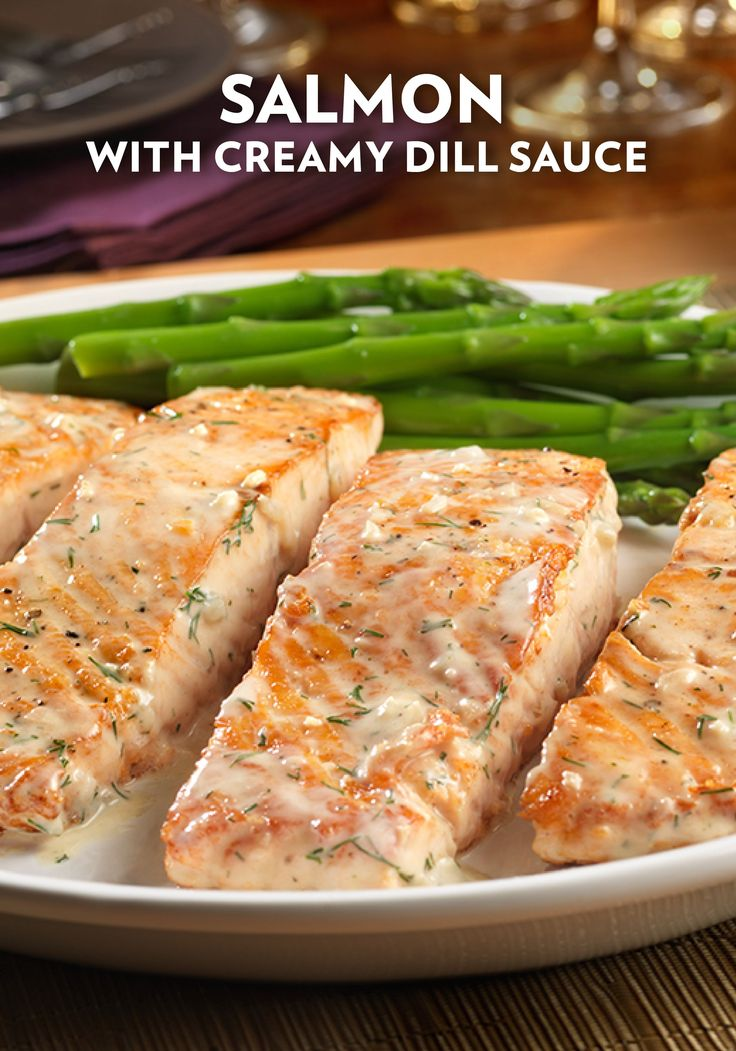 The flavors found in this Salmon with Creamy Dill Sauce recipe—made with Swanson Seafood Stock—is the perfect balance of fresh and savory ingredients. The flavorful sauce cascading over the top of this flaky fish adds a wonderful touch.