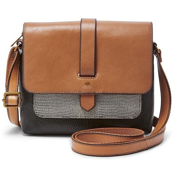 Fossil Kinley Small Crossbody Zb6753994 Color: Neutral Multi (€115) ❤ liked on Polyvore featuring bags, handbags, shoulder bags, leather crossbody, leather handbags, brown crossbody, brown leather shoulder bag and crossbody purse