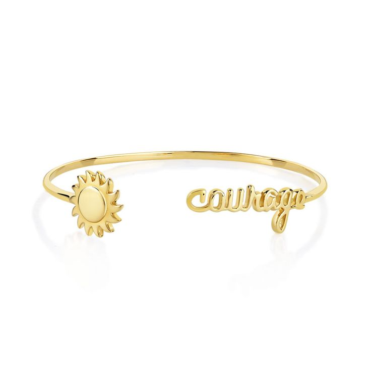 Bracelet rigide plaqué or Marion Bartoli by Maty - Femme - Bracelet rigide | MATY