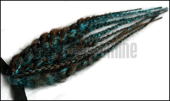 https://www.etsy.com/listing/157027604/brown-and-turquoise-mini-dread-fall?ga_order=most_relevant