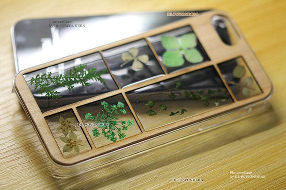 unico telaio in legno giapponese Fiori veri di FlowersCase su Etsy