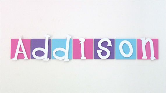 Kids Wooden Letters are perfect for helping to creating a unique, one of a kind room for your child. Each wooden wall letter tile is hand crafted and hand painted. There are heaps of colours to choose from, so you are sure to find the perfect colour combination that coordinates with your kids room decor. Feel free to use one of my existing colour combinations or choose you own. Kids wall letter tile are light weight and easy to hang on the wall or door.   * Large squares are 15cm x15cm x 6mm…