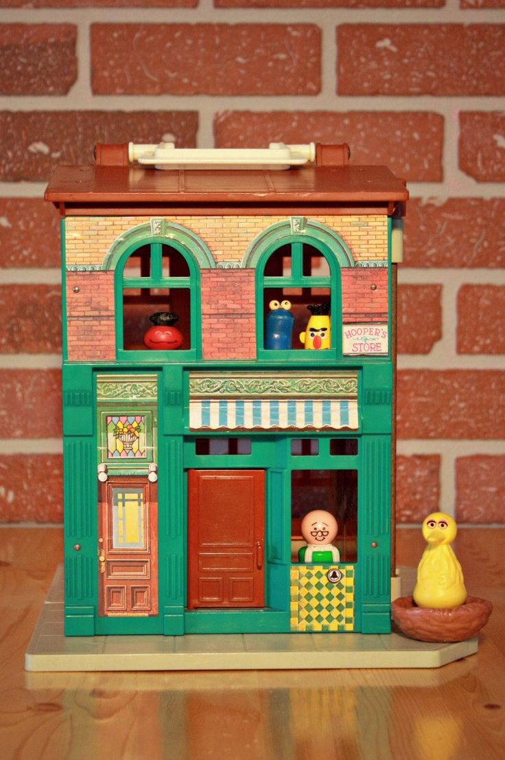 Maison Sesame Street Fisher-Price 1974, Jouet Fisher-Price 1970, Figurine Bert, Big bird Fisher-Price, Figurine de Cookie monster de la boutique PastelEtPixel sur Etsy