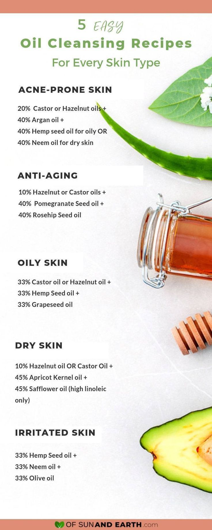 5 Super Effective Oil Cleansing Recipes To Try Tonight With