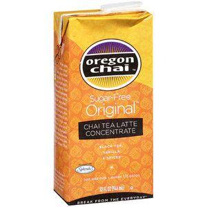 Oregon Chai: Chai Tea Latte Concentrate Sugar-Free Original, 32 fl oz