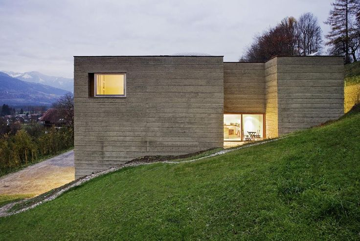 Martin rauch casa in terra cruda a schlins claddings - Casas bajo tierra ...