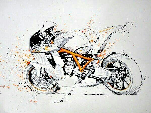 Pin By Walter Duenas On Draw Walterduego Ktm Rc8 Bike Sketch