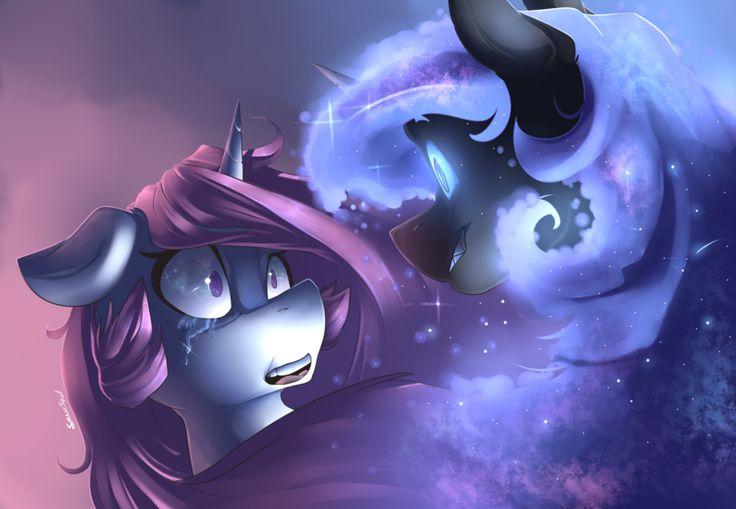 my little pony,Мой маленький пони,фэндомы,mlp art,Princess Luna,принцесса Луна,royal,Princess Celestia,Принцесса Селестия,Nightmare Moon,minor