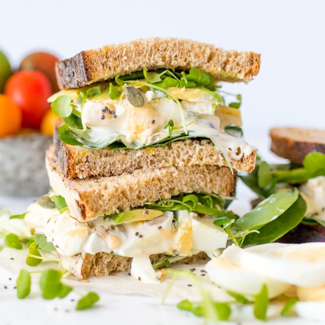Turn a classic egg mayo sandwich into a super food sensation.