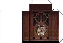 """Small Stuff's PrintMini: Printable Dollhouse Miniatures & Printies  1"""" Scale Appliances:  antique radio"""