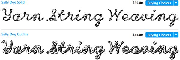 Font That Looks Like Yarn Or String Typophile Magazine