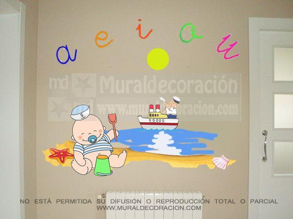 #muralesinfantiles, #decoracionmural, #decoracionbebe, #muralesmadrid,#decoracion,#dormitoriosinfantiles, Murales infantiles para bebé 150 euros www.muraldecoracion.com telf:664115368