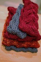 Free Cabled Headband Knitting Pattern.