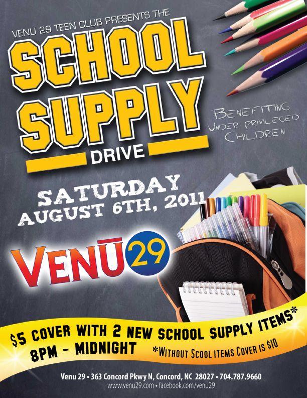 School Supply Drive Template Invitation Templates